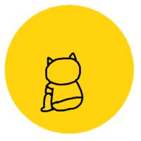 うつむきネコ画像